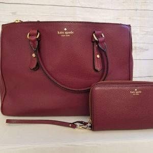 Kate Spade Leighann Mulberry Wallet